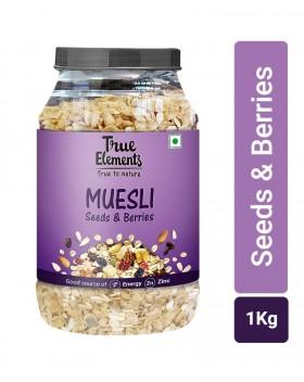 True Elements Seeds and Berries Muesli Jar, 1 kg