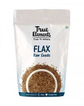 True Elements Raw Flax Seeds, 500g