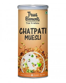 True Elements Chatpati Muesli PET Bottle, 400 g