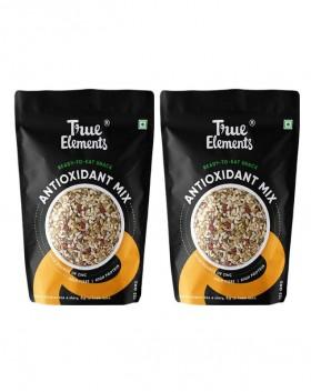 True Elements Roasted Sunflower, Pumpkin and Flax Seeds Watermelon, Chia & Goji Berries, 250g (Pack of 2)(125g*2)