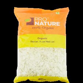 Pro Nature Organic Beaten Rice (Medium Poha) 500 gms