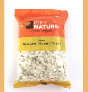 Pro Nature Organic Beaten Rice (Thin Poha) 500 gms