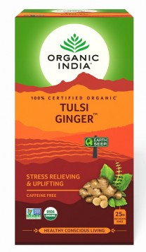 Organic India Tulsi Ginger 25 Tea Bags