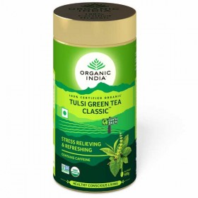 Organic India Tulsi Green Tea Classic 100 Gram Tin