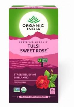 Organic India Tulsi Sweet Rose 25 Tea Bags