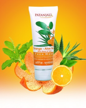 Patanjali Orange- Aloe Vera Face Wash (Pack of 3) Face Wash 60 gms