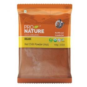 Pro Nature Organic Red Chilli Powder(Hot) 100 gms