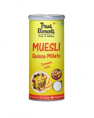 True Elements Quinoa Millet muesli, Turmeric Latte 400gm