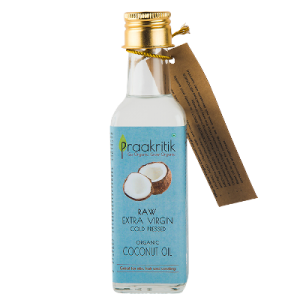 Praakritik Raw Extra Virgin  Coconut Oil 100 ml