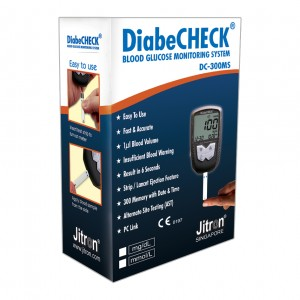 Jitron Diabecheck Blood Glucose Monitoring System-DC-300MS - 01 2019