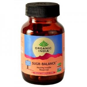 Organic India Sugr Balance 60 Capsules Bottle