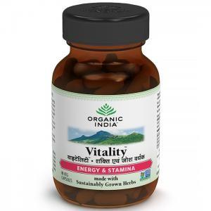 Organic India Vitality 60 Capsules Bottle