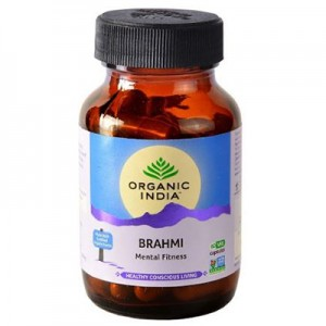 Organic India Brahmi 60 Capsules Bottle