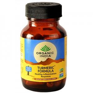 Organic India Turmeric Formula 60 Capsules Bottle