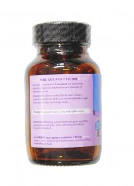 Organic India Cinnamon 60 Capsules Bottle