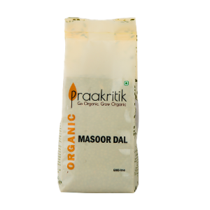 Praakritik Masoor Dal Organic 500 gm