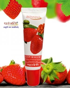 Patanjali Lip Balm Strawberry 10 Gm 4 Item