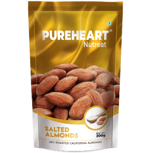 Pureheart Salted Almonds 200gm Pouch