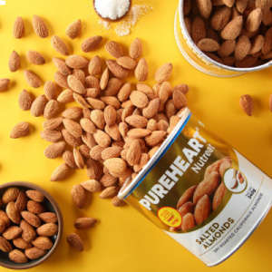 Pureheart Salted Almonds 340gm Can