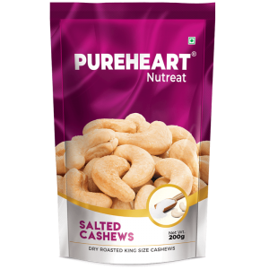 Pureheart Salted Cashew Pouch 200gms