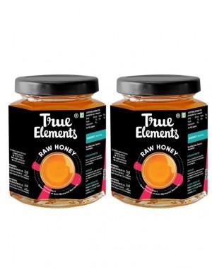 True Elements Raw Honey, 350g